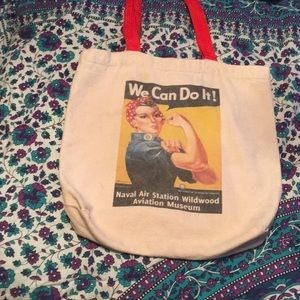 Rosie the Riveter Feminist Tote Bag